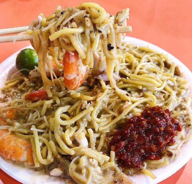 Fried Hokkien Prawn Noodle ($4/$5/$6).