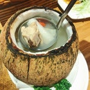 Foshan Old Coconut Soup With Farm Chicken ($14/2pax).