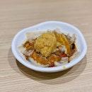 Sliced Pork Belly With Mashed Garlic ($5.50).