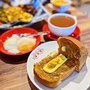 Homemade Gula Melaka Kaya & Butter Hainanese Toast set ($4.80).