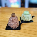 Chestnut Mont Blanc ($9.80), Crepe Matcha ($8.80).