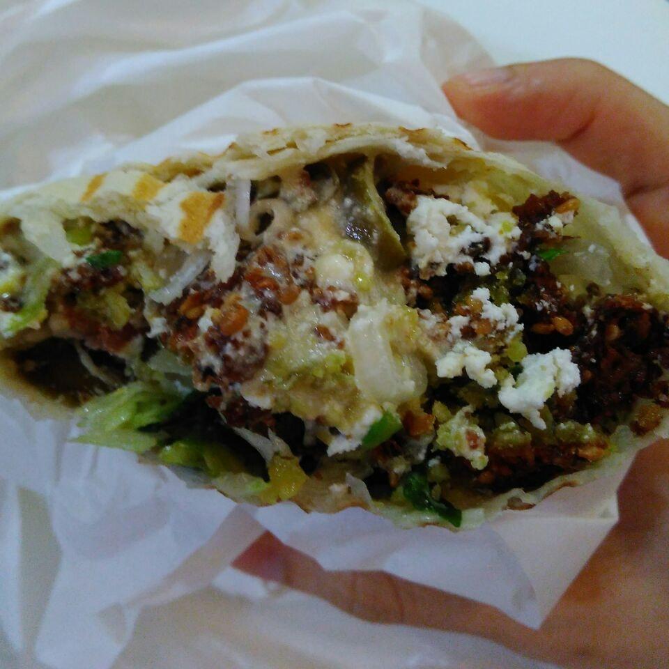 Falafel Wrap & Feta