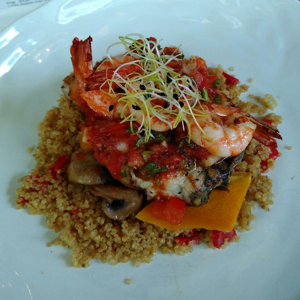 Seabass & Prawn Quinoa