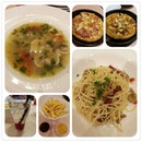 Dinner @ Pizza Hut just now.