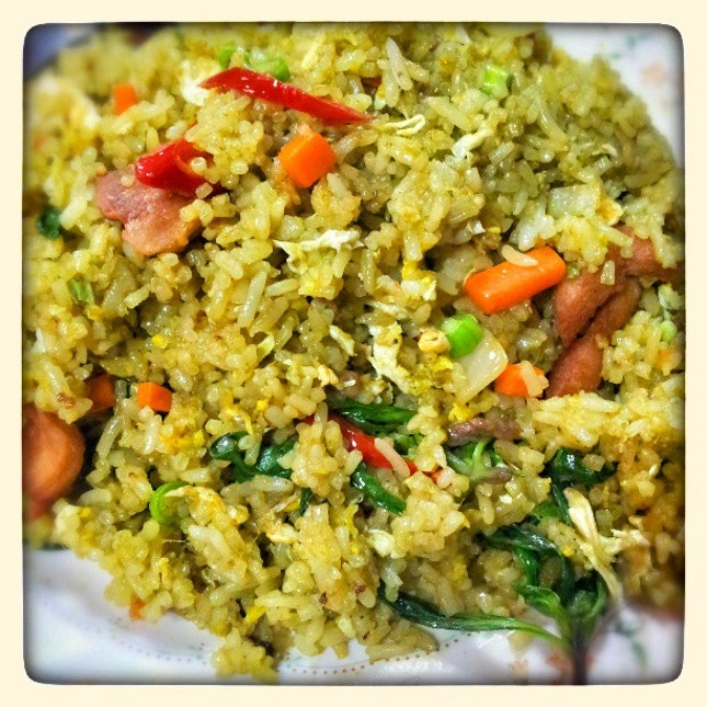 My very awesome lunch this afternoon - green curry fried rice!