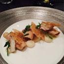 Salt-baked Celeriac, Smoked Eel, Foie Gras Shavings, Mustard Emulsion