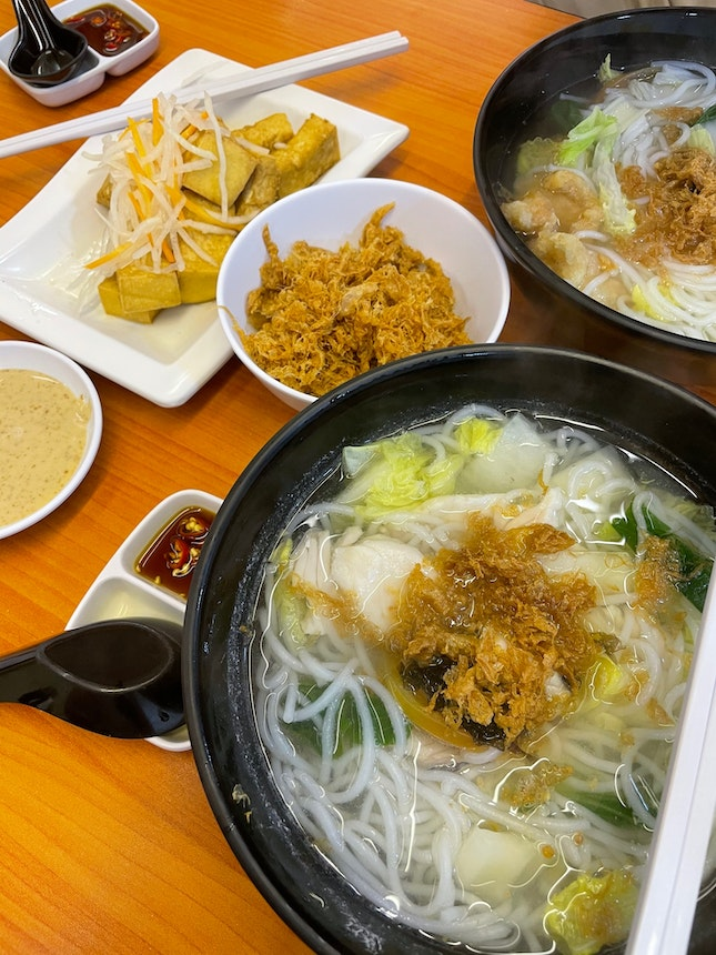 Hearty Fish Soup And Delicious Fried Tofu