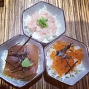 #sansei #don #tuna #salmonroe #salmon #roe #sashimi #rice #dinner #japanesefood #japanese #food #singapore