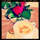 Hot cappuccino made ur day...