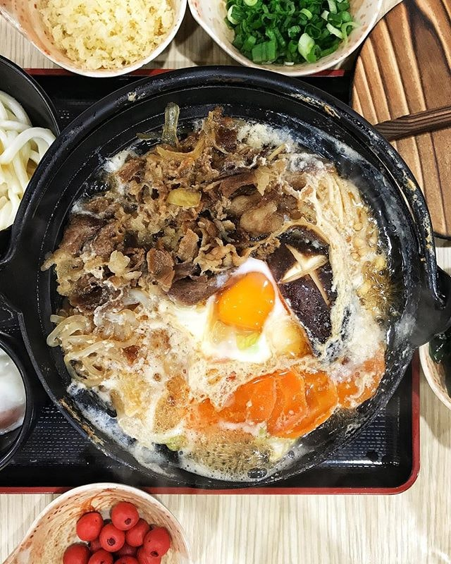 #AnythingAlsoEat - Beef Sukiyaki Udon ~•~•~•~•~ Tamoya Udon has launched three new Udon hotpot - Beef Sukiyaki, Prawn Nabe Yaki and a Pork Spicy Miso.