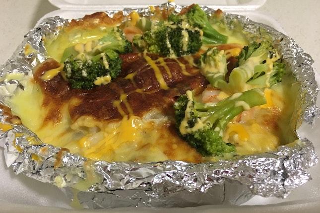 Tiger Prawn & Broccoli Baked Rice