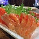 😌 #nofilter #salmon #sashimi #japanesefood #instafood #webstagram #instagood