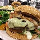 Hamburger (with Bacon), $14